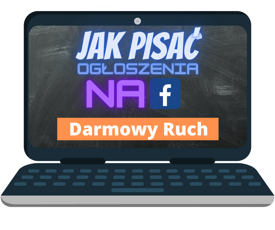 Jak pisac ogloszenia na FB okladka w laptopie
