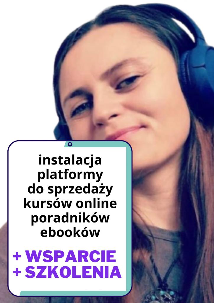 instalacja platformy szkoleniowej do sprzedazy kursow online ebookow poradnikow okladka uslugi